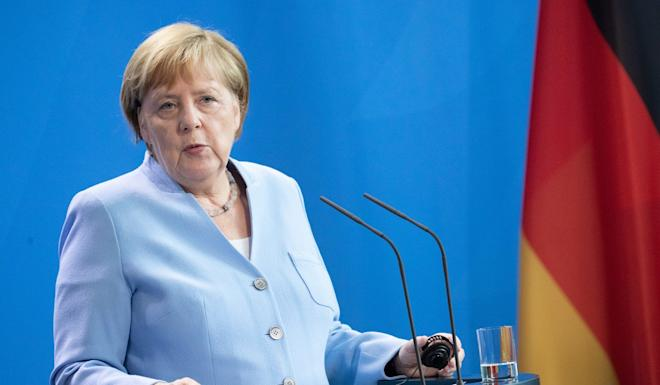 German Chancellor Angela Merkel has cited Hong Kong's Basic Law in calling for a peaceful resolution to the protests. Photo: EPA-EFE