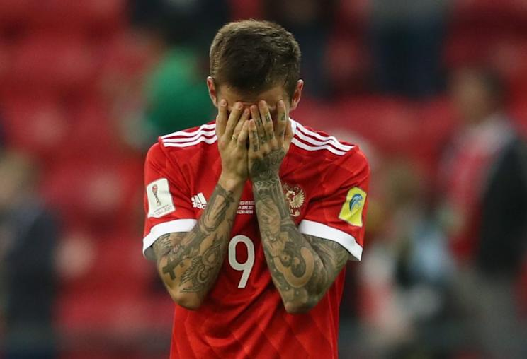 Striker Fyodor Smolov was one of Russia's lone bright spots at the Confederations Cup. (Getty)