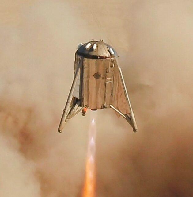 SpaceX's Starhopper test rocket takes one giant leap