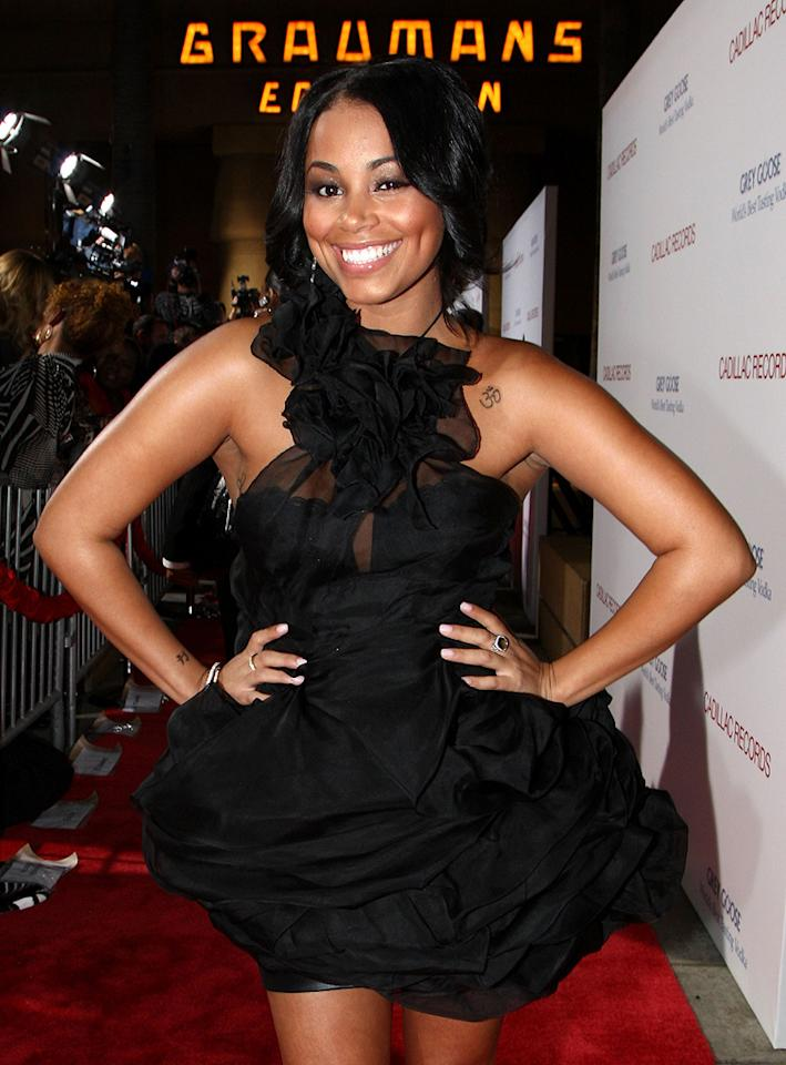 """<a href=""""http://movies.yahoo.com/movie/contributor/1808915695"""">Lauren London</a> at the Los Angeles premiere of <a href=""""http://movies.yahoo.com/movie/1810003875/info"""">Cadillac Records</a> - 11/24/2008"""