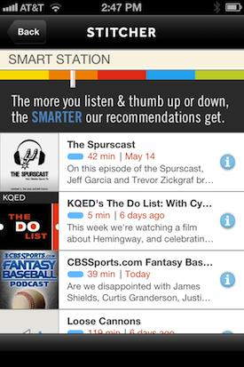 Pandora for Talking: Stitcher Updates App How You Like It