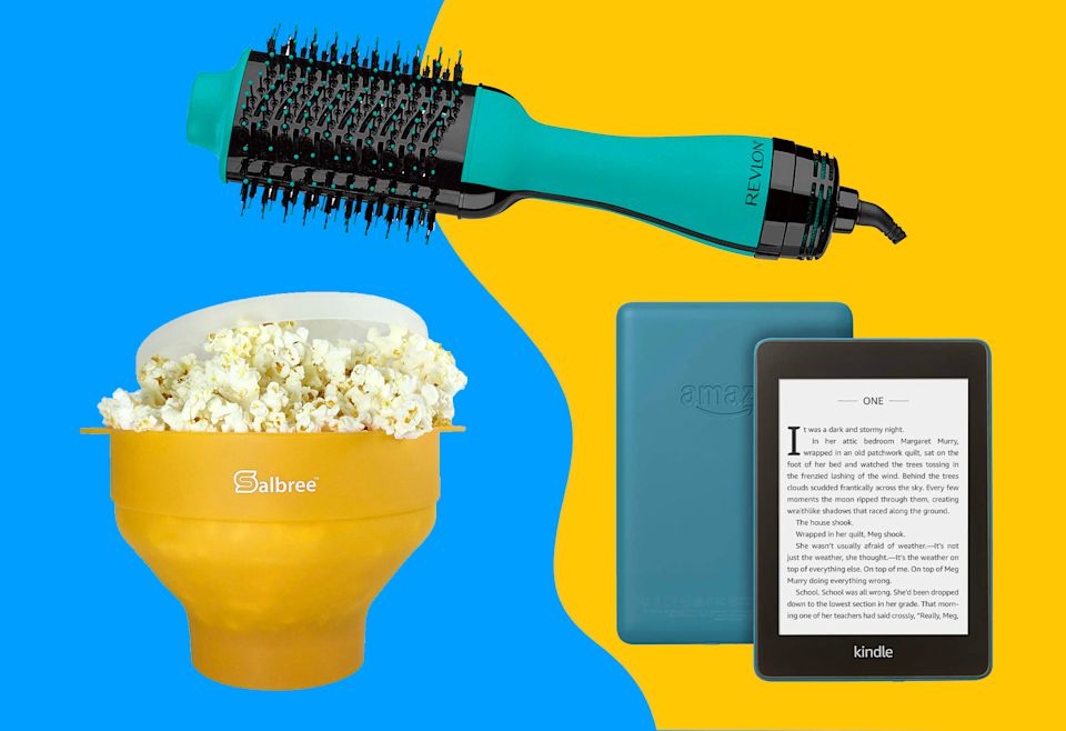 Shop Amazon deals on a Kindle, popcorn maker, hair dryer and more.