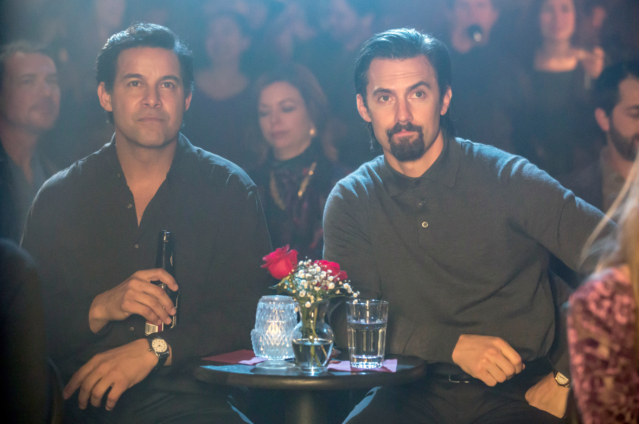 Huertas and Milo Ventimiglia. (Photo: NBC)