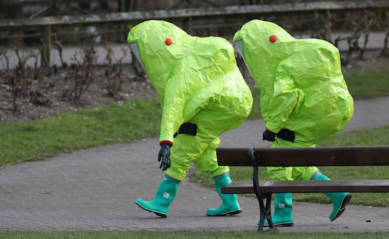 Britain deploys specialist troops to Salisbury where Russian double agent, daughter poisoned