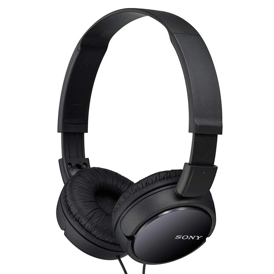 """<p><strong>Sony</strong></p><p>amazon.com</p><p><strong>$9.99</strong></p><p><a href=""""https://www.amazon.com/dp/B00NJ2M33I?tag=syn-yahoo-20&ascsubtag=%5Bartid%7C2089.g.285%5Bsrc%7Cyahoo-us"""" rel=""""nofollow noopener"""" target=""""_blank"""" data-ylk=""""slk:Shop Now"""" class=""""link rapid-noclick-resp"""">Shop Now</a></p><p>The Sony MDR-ZX110 wired on-ear headphones are the best option for buyers looking to rock out on a really tight budget. For less than $10, they offer a surprisingly stellar sonic experience, courtesy of 30-millimeter audio drivers. You can order them in black, white, or pink.</p><p>The headphones are incredibly lightweight and comfy, and I like their foldable design for effortless storage. Overall, considering their brand's impeccable audio credentials, the MDR-ZX110 cans are worth every penny of their impulse-buy price tag. Sony offers <a href=""""https://www.amazon.com/dp/B00OUX6U6G?tag=syn-yahoo-20&ascsubtag=%5Bartid%7C2089.g.285%5Bsrc%7Cyahoo-us"""" rel=""""nofollow noopener"""" target=""""_blank"""" data-ylk=""""slk:a variant of the headphones with a built-in microphone"""" class=""""link rapid-noclick-resp"""">a variant of the headphones with a built-in microphone</a> as well.</p>"""