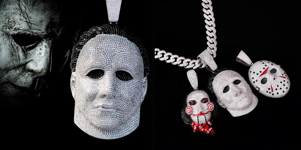 FREE HORROR 0c4dfc235ef406bb9ede18030f56a3bd These Horror Movie Icon Pendants Are Simply to Die For
