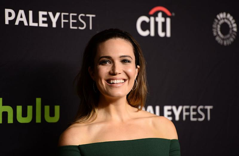 Mandy Moore was still feeling the St. Patrick's Day spirit in this all green ensemble