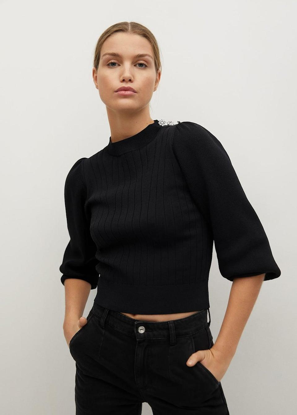 <p>This <span>Mango Decorative Button Sweater</span> ($60, originally $80) will garner tons of compliments.</p>