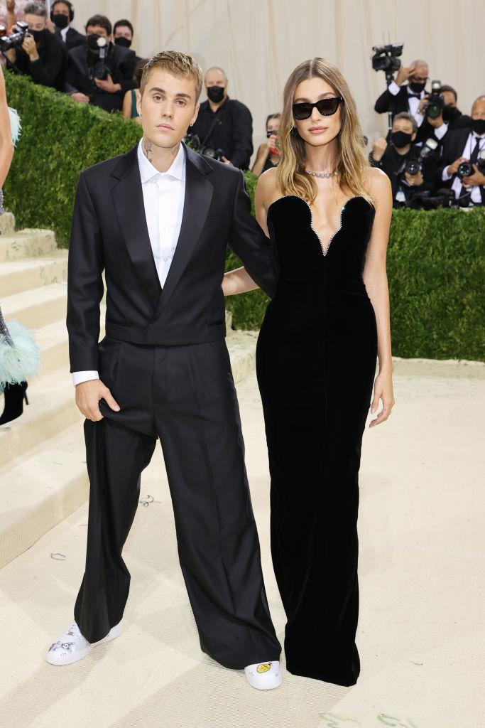 Justin Beiber and Hailey Bieber at the 2021 Met Gala