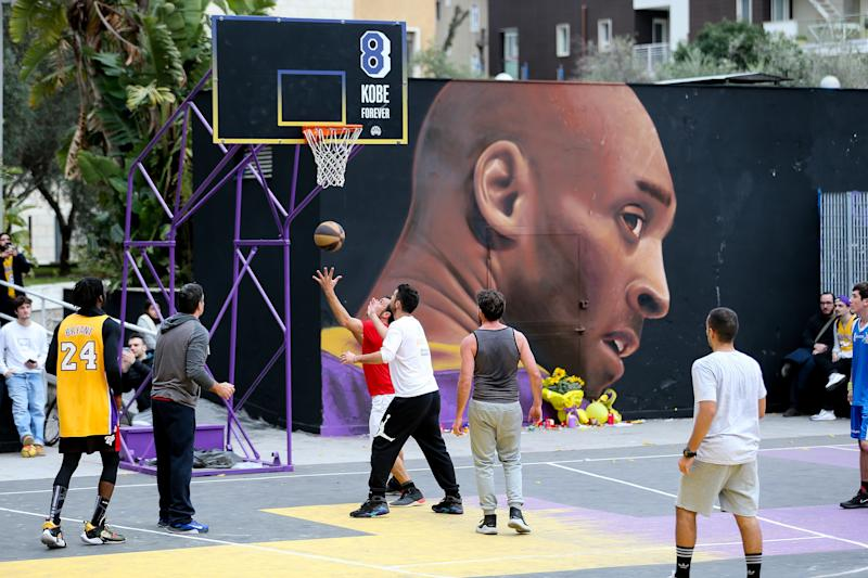 Mural de Kobe Bryant. (Getty Images)