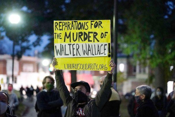 PHOTO: Protesters gather for a march on Oct. 27, 2020 over the death of Walter Wallace, a Black man who was killed by police in Philadelphia on Oct. 26, 2020. (Matt Slocum/AP)