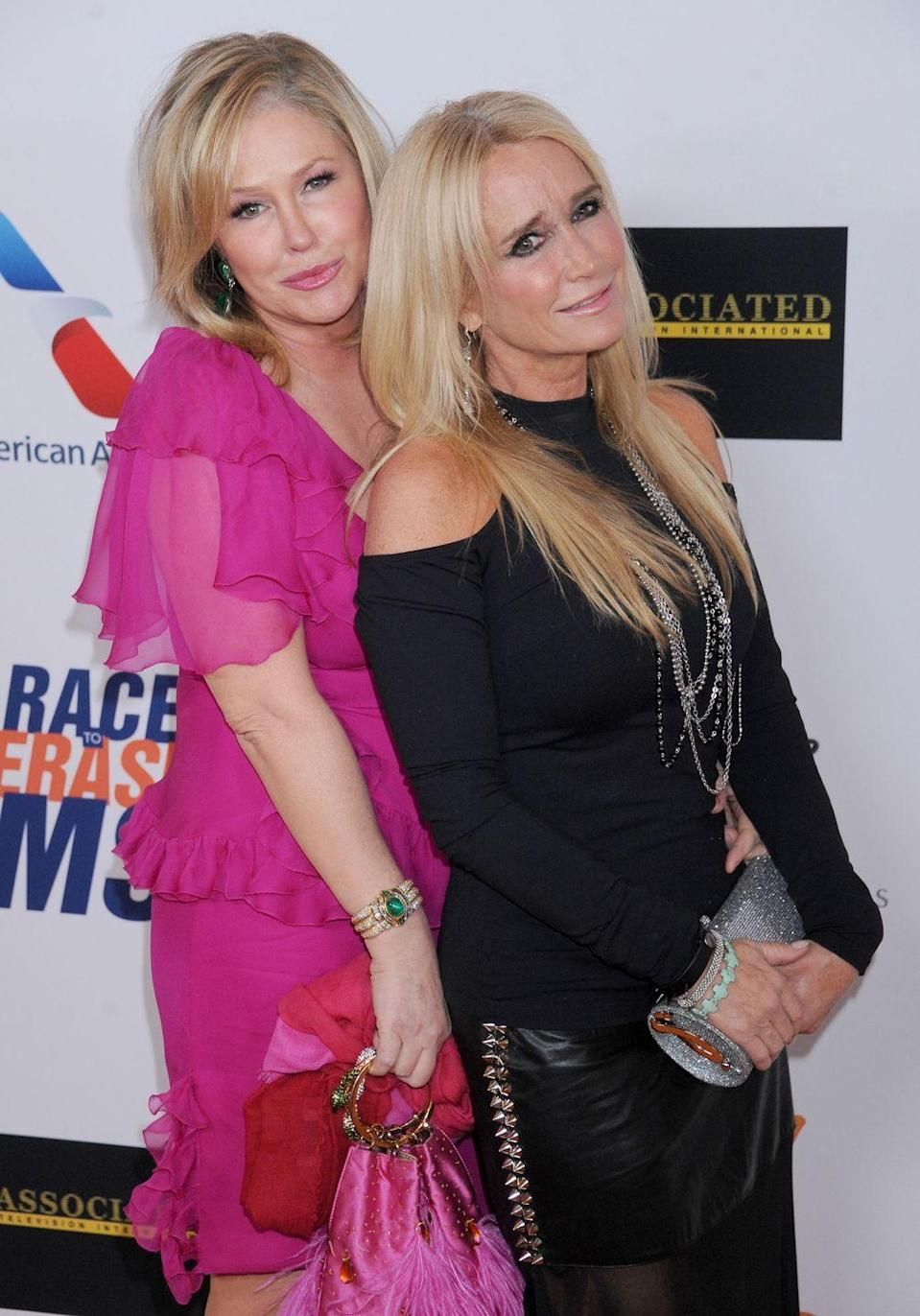 <p>Kathy Hilton is the oldest of the Richards sisters (their third sister is <em>Real Housewives of Beverly Hills </em>star Kyle Richards) and we see the most similarities between her and former child actress, Kim. From their nose shape to their coloring, the two are nearly identical despite being six years apart. </p>