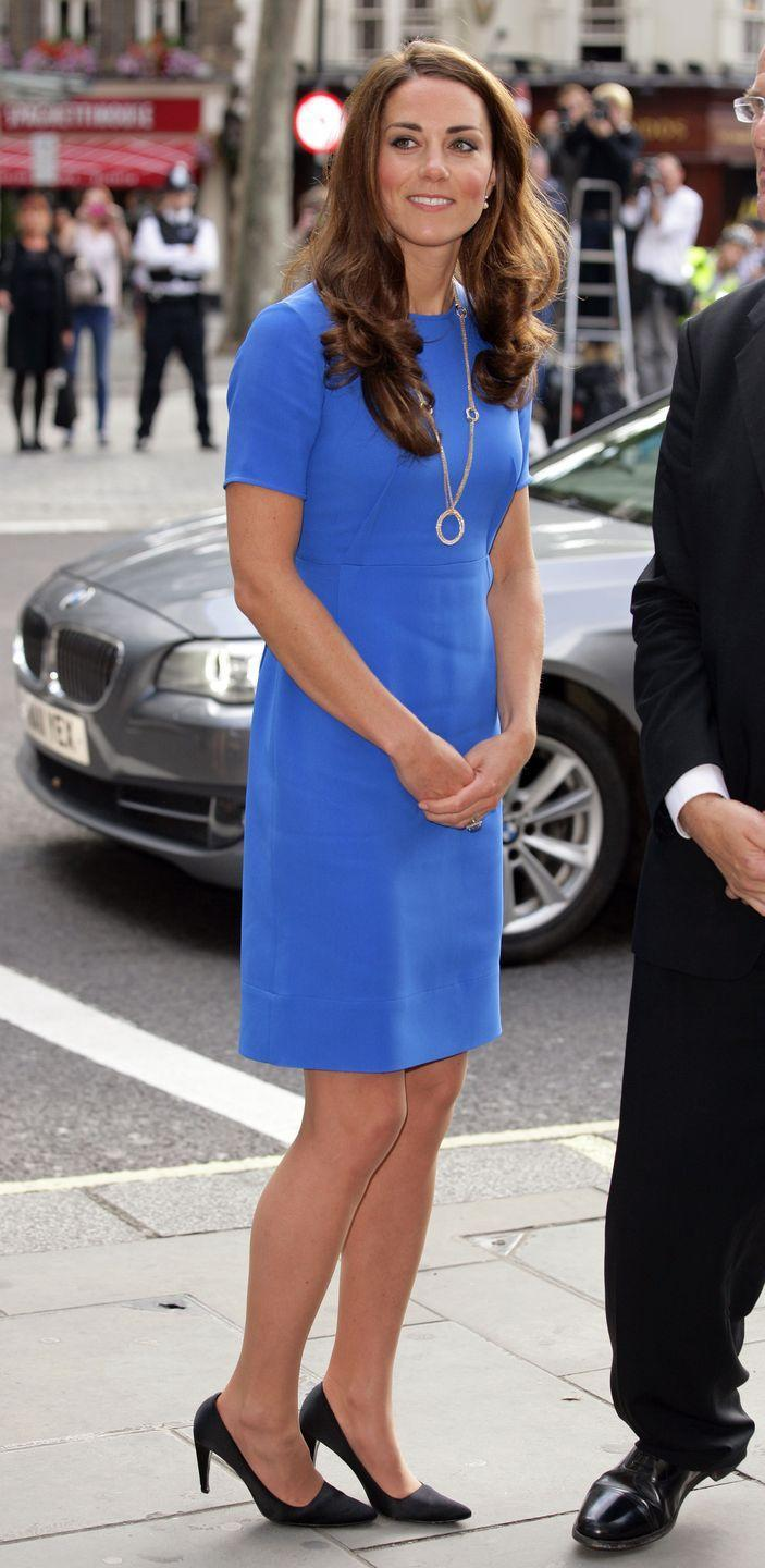<p>Kate knows a multi-use dress when she sees one and has worn this blue number on a few occasions, including an official visit to London's National Portrait Gallery in 2012. </p>