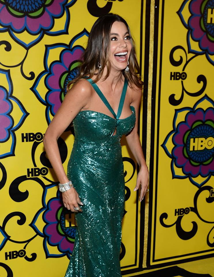 Sofia Vergara arrives at HBO's Annual Emmy Awards Post Awards Reception at the Pacific Design Center on September 23, 2012 in West Hollywood, California.