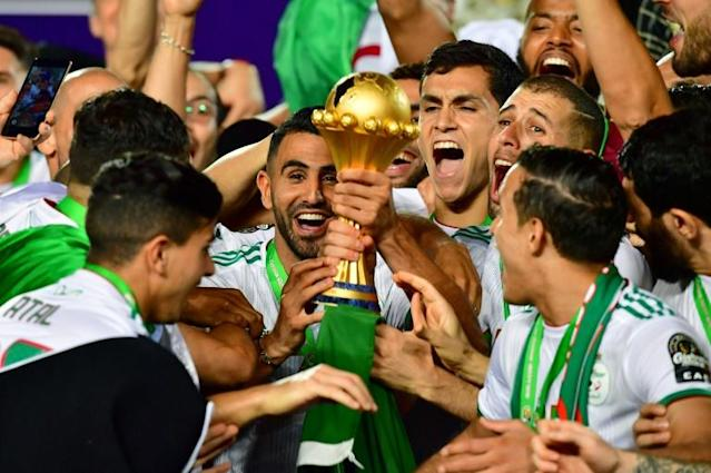 Algeria won the 2019 Africa Cup of Nations in Egypt, held in June and July. Next year's tournament in Cameroon will revert to a January-February time slot (AFP Photo/Giuseppe CACACE)