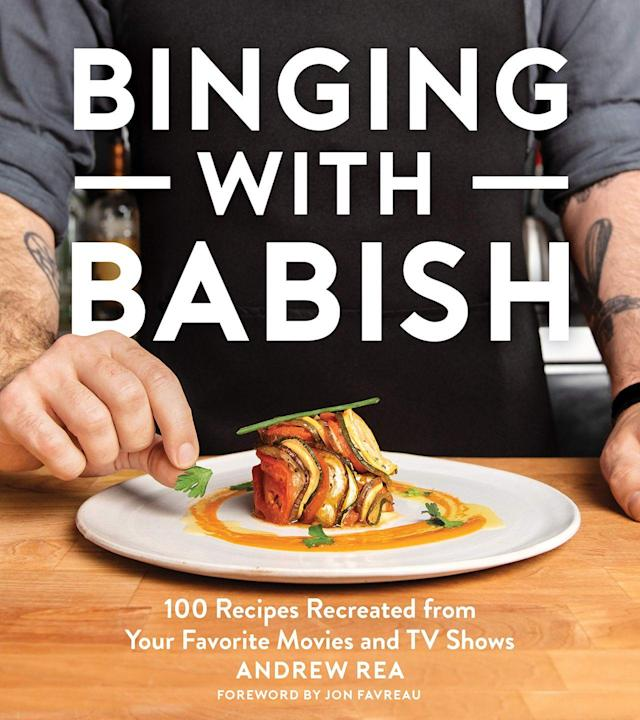 """<p>You've heard of Binging with Babish the YouTube channel, but are you familiar with the brand-new cookbook? It was bound to happen, Andrew was always going to have to come up with something special and he has. A hot new cookbook is soon to be released delving into all the TV and Film food favourites. You should really take a look this.<br></p><p><a class=""""link rapid-noclick-resp"""" href=""""https://www.amazon.co.uk/Binging-Babish-Recipes-Recreated-Favorite/dp/1328589897/ref=sr_1_1?crid=10CE7K7FH4VKB&keywords=binging+with+babish&qid=1567180151&s=gateway&sprefix=bingin%2Caps%2C133&sr=8-1&tag=hearstuk-yahoo-21&ascsubtag=%5Bartid%7C2159.g.28871146%5Bsrc%7Cyahoo-uk"""" rel=""""nofollow noopener"""" target=""""_blank"""" data-ylk=""""slk:BUY NOW"""">BUY NOW</a><strong> Binging With Babish, amazon.co.uk </strong></p>"""