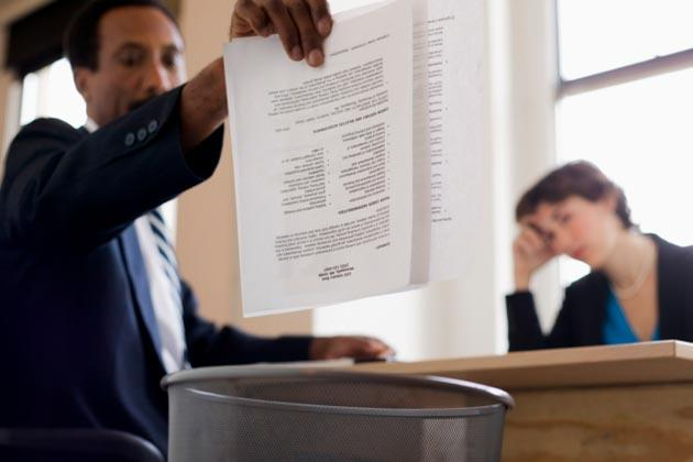 So this is how much you want? Resume meet trashcan (Thinkstock)