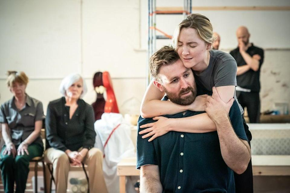 In rehearsals with Saoirse Ronan (Marc Brenner)