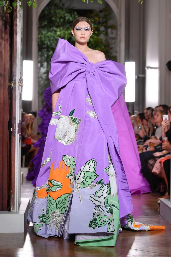 Gigi Hadid walks the runway during the Valentino Fall/Winter 2019/2020 show as part of Paris Fashion Week on July 03, 2019 in Paris, France. [Photo: Getty]
