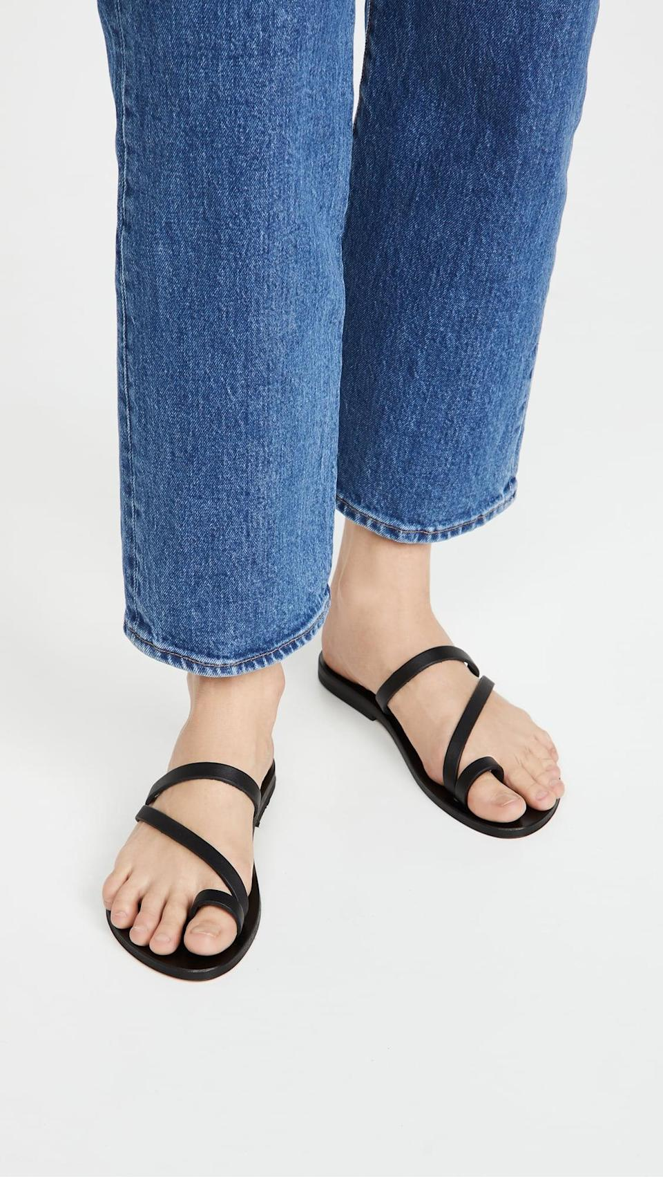 <p>Everyone needs a great black sandal in their life, and these <span>K. Jacques Bolzano Toe Ring Sandals</span> ($270) have always been staples for us.</p>