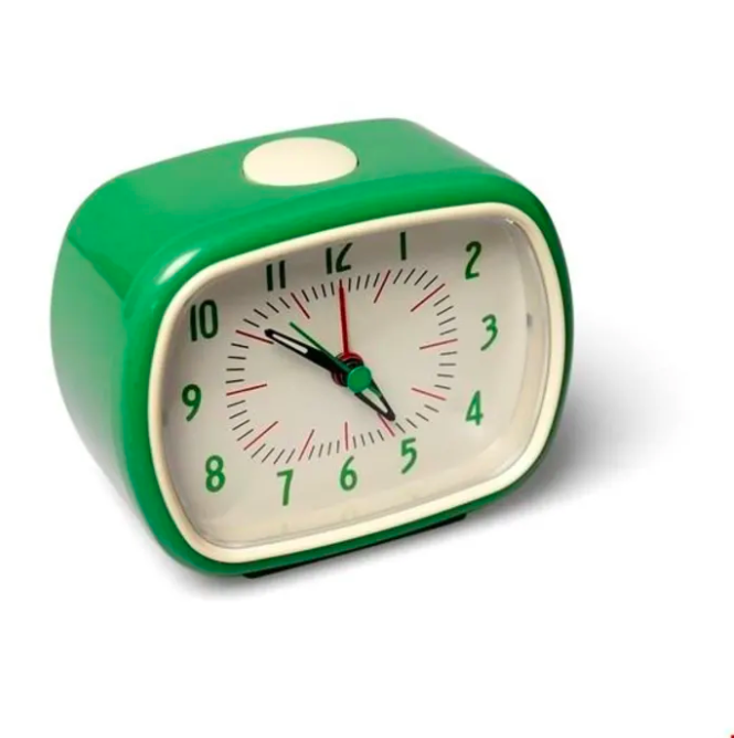 "<strong><h2>£15 AND UNDER</h2></strong><br>With £15 you have a bit more to play with and can go down a number of avenues. Got a mate who's somehow still late to morning meetings, even without a commute? Get 'em a snazzy alarm clock (with none of the noisy ticking). A newbie plant lover? Get 'em an aloe! A seasoned plant hand? Go for a plant mister that's as decorative as it is useful.<br><br><strong>Rex London</strong> Green Retro Bakelite Style Alarm Clock, $, available at <a href=""https://www.trouva.com/products/rex-london-green-retro-bakelite-style-alarm-clock"" rel=""nofollow noopener"" target=""_blank"" data-ylk=""slk:Trouva"" class=""link rapid-noclick-resp"">Trouva</a>"