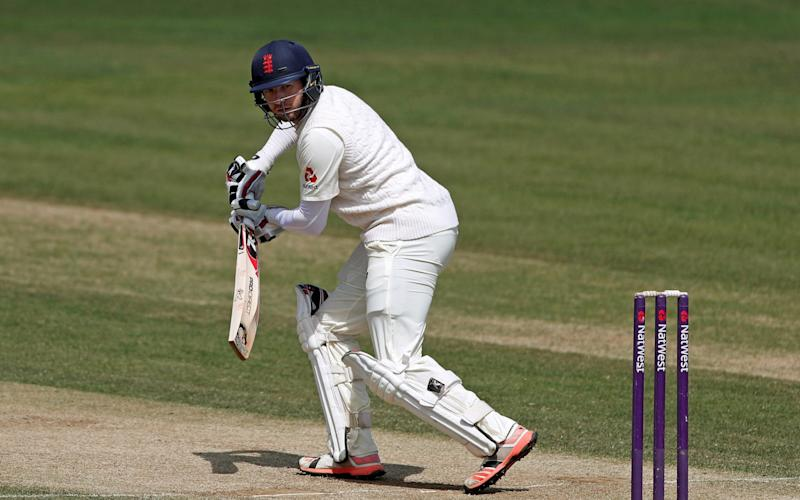 Mark Stoneman of England Lions hits a boundary during day 3 of the match between England Lions and South Africa A at The Spitfire Ground on June 23, 2017 in Canterbury, England - Credit: Getty Images
