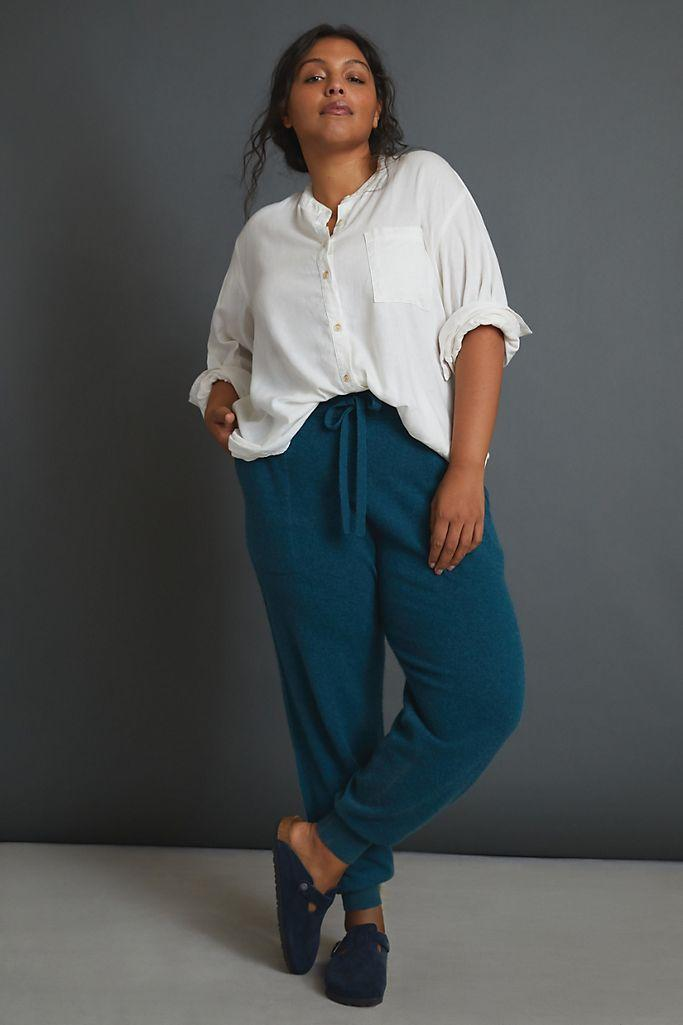 """<br><br><strong>Saturday/Sunday</strong> Emmeline Cashmere Joggers, $, available at <a href=""""https://go.skimresources.com/?id=30283X879131&url=https%3A%2F%2Fwww.anthropologie.com%2Fshop%2Femmeline-cashmere-joggers%3Fcolor%3D046%26size%3D3%2520X%26type%3DPLUS"""" rel=""""nofollow noopener"""" target=""""_blank"""" data-ylk=""""slk:Anthropologie"""" class=""""link rapid-noclick-resp"""">Anthropologie</a>"""