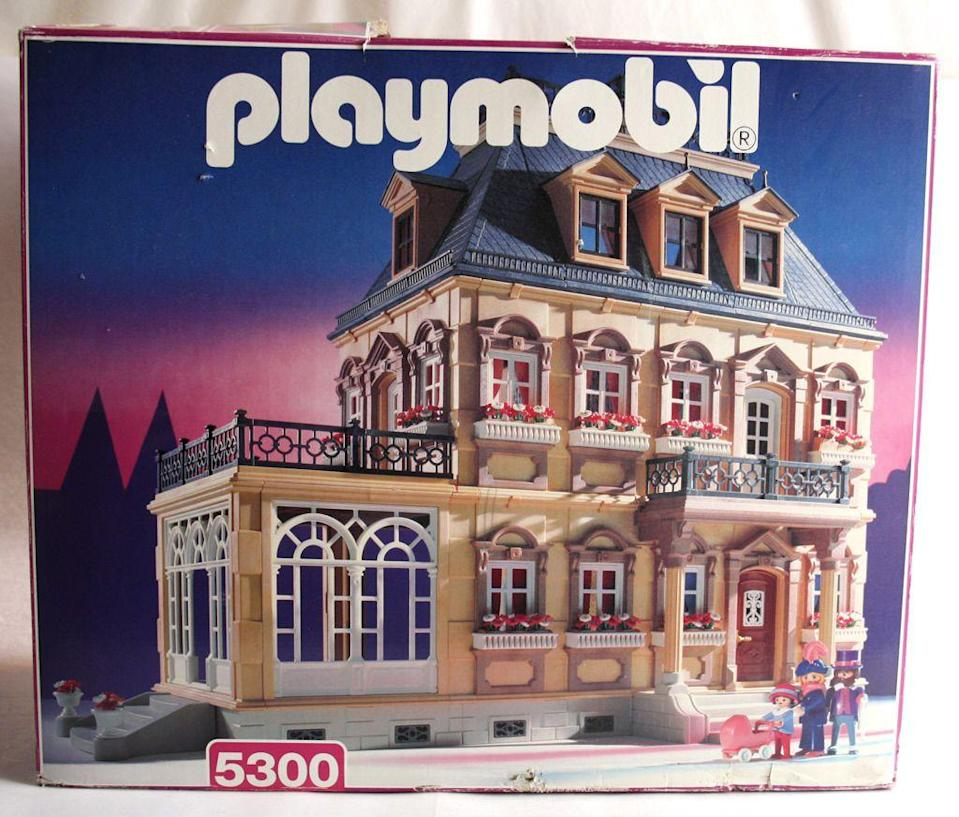 """<p>Childhood is practically synonymous with German toymaker Playmobil. Which helps explain why collectors are so nostalgic for throwback pieces and willing to shell out the big bucks for them: <a href=""""http://www.ebay.com/itm/RARE-VINTAGE-1995-PLAYMOBIL-5300-VICTORIAN-DOLLHOUSE-MANSION-VILLA-NEW-MIB-/121679393537?hash=item1c54a83301:g:aykAAOSwBahVf~vP"""" rel=""""nofollow noopener"""" target=""""_blank"""" data-ylk=""""slk:This 1995 Victorian Dollhouse"""" class=""""link rapid-noclick-resp"""">This 1995 Victorian Dollhouse</a> is listed at $1,000 and <a href=""""https://www.ebay.com/itm/Playmobil-3667-Vintage-Medieval-Small-Castle-NEW-MISB-Factory-Sealed-/264094817285?oid=221612852218"""" rel=""""nofollow noopener"""" target=""""_blank"""" data-ylk=""""slk:this knight's castle"""" class=""""link rapid-noclick-resp"""">this knight's castle</a> is on the market for $239. </p>"""