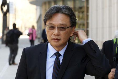 FILE PHOTO: Former Costa Rican Football Federation (FEDEFUT) president and FIFA executive committee member Eduardo Li  exits the Brooklyn Federal Courthouse in the Brooklyn borough of New York