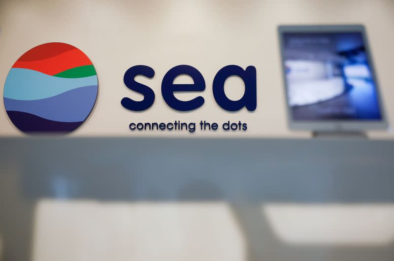 Sea Ltd's signage is pictured at their office in Singapore