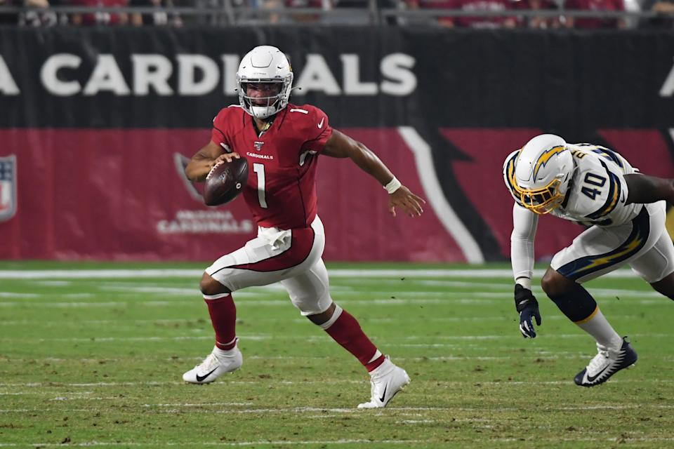 Kyler Murray's NFL debut was brief, but he showed off the athleticism and decision making that made him the No. 1 pick. (Getty)