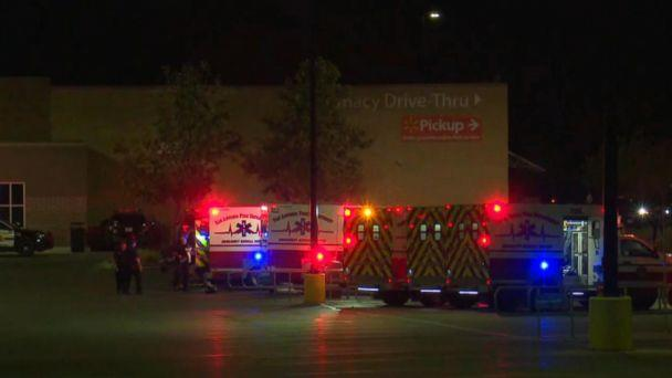 PHOTO: 8 people were found dead, 30 injured in semitrailer in a Walmart parking lot in San Antonio in apparent human-trafficking case. (KSAT)
