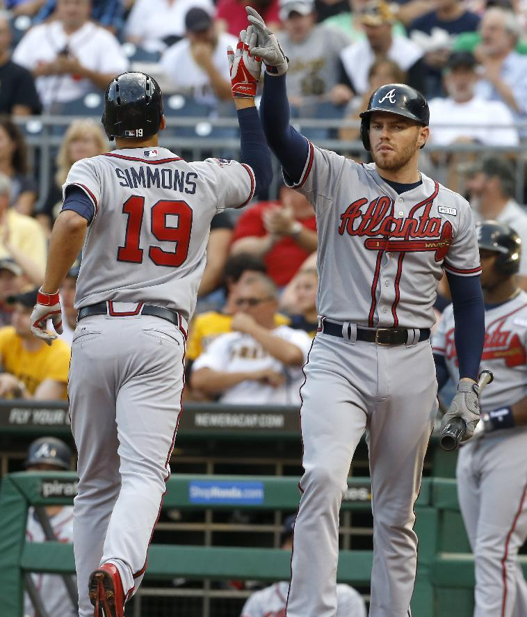 Braves use 6-run 1st to beat Pirates 7-3