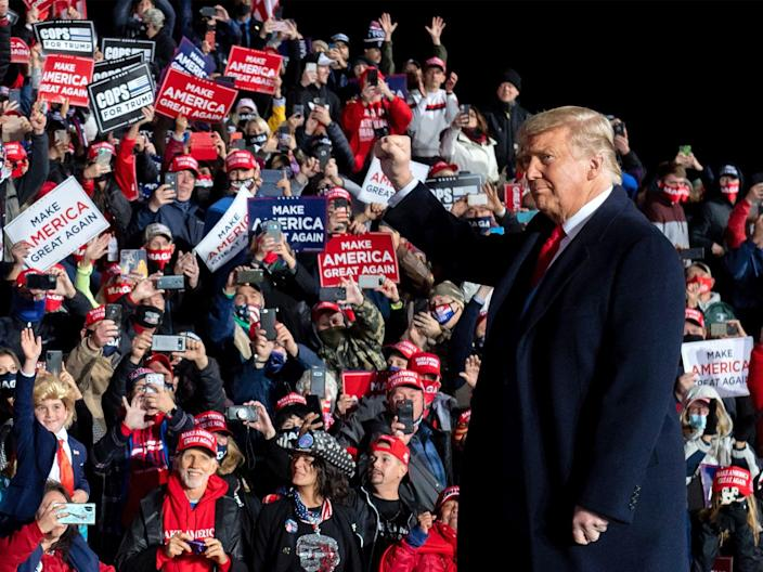 Trump's base is deserting him according to the latest polls (AFP via Getty Images)