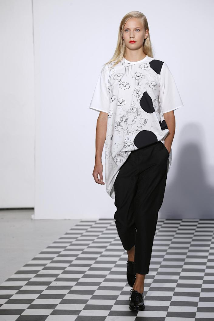 The SS15 collection includes plenty of the lighthearted prints Dévastée is known for.