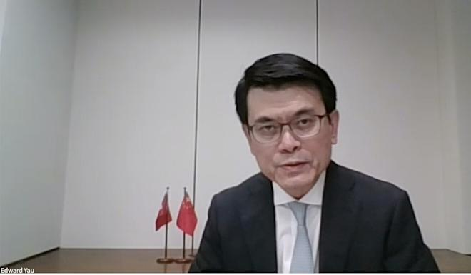 Secretary for Commerce and Economic Development Edward Yau said Hong Kong's special strength hinged on the 'one country, two systems' of government. Photo: SCMP Pictures