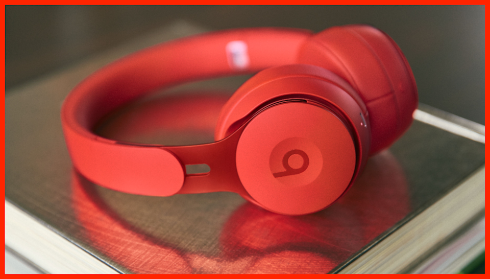 These Red Beats Solo Pro Wireless Noise Cancelling On-Ear Headphones are on sale for $170, or $130 off. (Photo: Amazon)