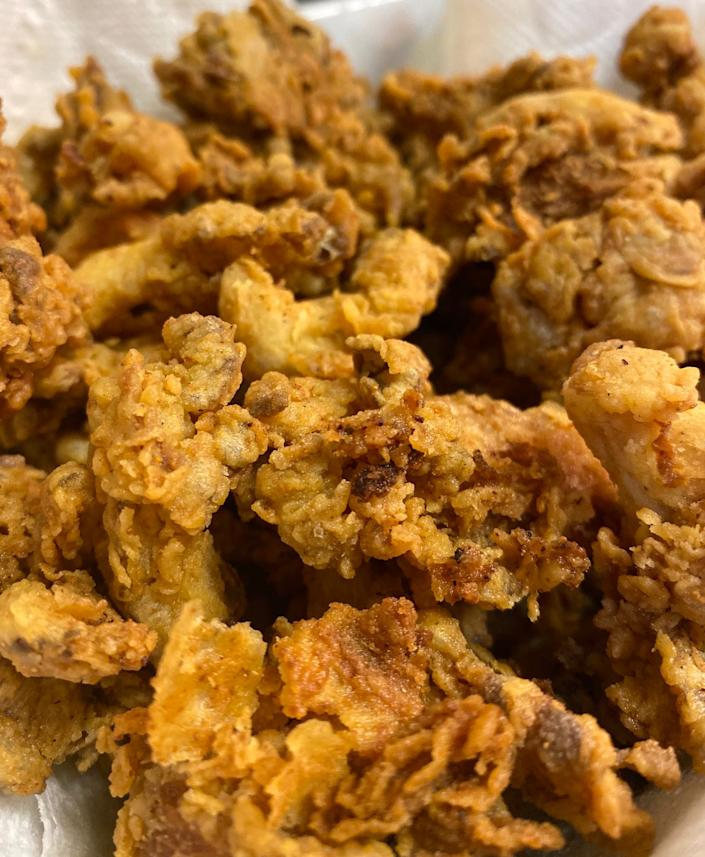 """Vegan Soul's fried """"chicken"""" is crunchy, delicious and all-vegan."""