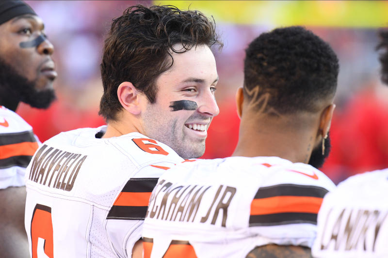 While Baker Mayfield is taking a lot of the criticism in Cleveland, Odell Beckham Jr. is quick to defend his quarterback.