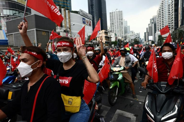"""Thailand's so-called """"Red Shirts"""" are mostly working-class supporters of populist former premier Thaksin Shinawatra (AFP/Jack TAYLOR)"""