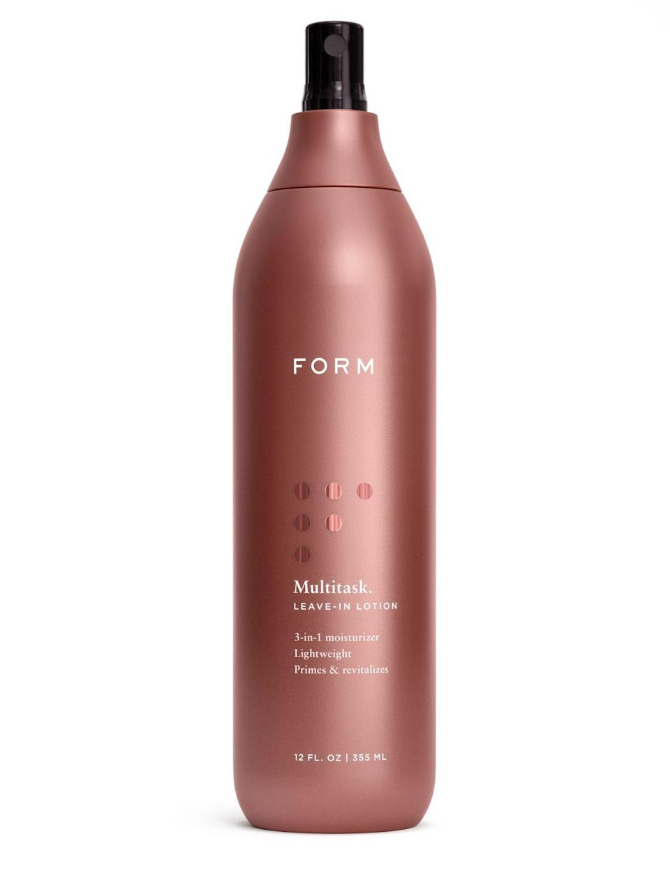 """<p><strong>Account</strong></p><p>formbeauty.com</p><p><strong>$474.00</strong></p><p><a href=""""https://formbeauty.com/products/multitask"""" rel=""""nofollow noopener"""" target=""""_blank"""" data-ylk=""""slk:Shop Now"""" class=""""link rapid-noclick-resp"""">Shop Now</a></p><p>FYI there's nothing wrong with <a href=""""https://www.cosmopolitan.com/style-beauty/beauty/a33187/how-to-defrizz-your-hair/"""" rel=""""nofollow noopener"""" target=""""_blank"""" data-ylk=""""slk:frizz"""" class=""""link rapid-noclick-resp"""">frizz</a>, but if you're over dealing with those hairs that won't lay flat no matter how much product you apply, this leave-in conditioner is a game-changer. The <strong>marshmallow-light blend of argan oil and grapeseed oil adds moisture back into your curls,</strong> smooths the cuticle out, and makes those annoying-ass flyaways a thing of the past.</p>"""