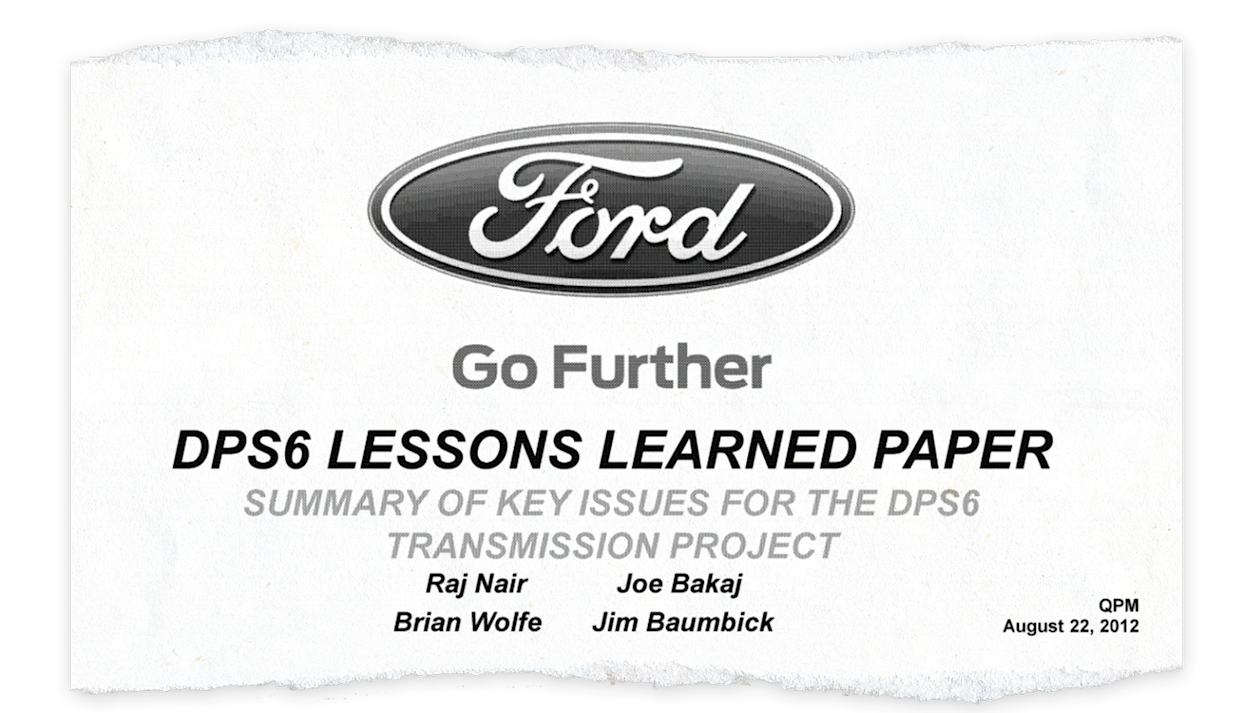 Ford's 2012