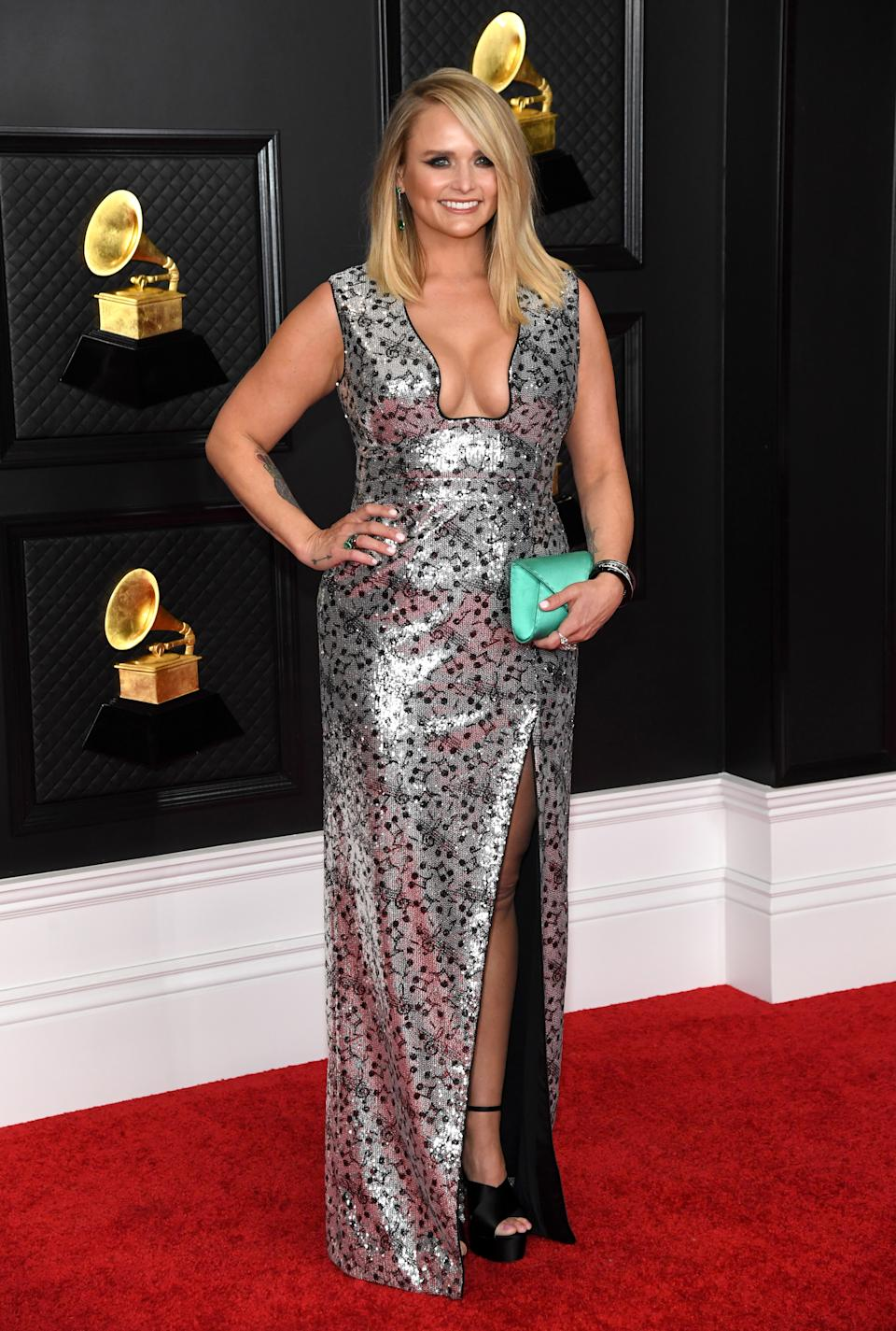 LOS ANGELES, CALIFORNIA - MARCH 14: Miranda Lambert attends the 63rd Annual GRAMMY Awards at Los Angeles Convention Center on March 14, 2021 in Los Angeles, California. (Photo by Kevin Mazur/Getty Images for The Recording Academy )