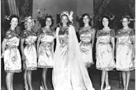 <p>Evelyn Ay from Pennsylvania looked simply stunning in a full-length gown with embroidery details. </p>