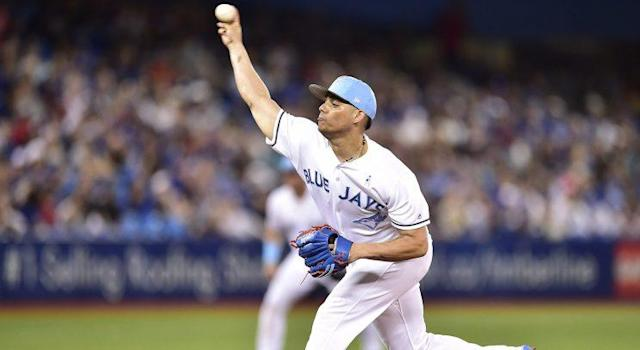 "<a class=""link rapid-noclick-resp"" href=""/mlb/players/9907/"" data-ylk=""slk:Roberto Osuna"">Roberto Osuna</a> opened up about his anxiety on Saturday morning. (Frank Gunn/CP)"