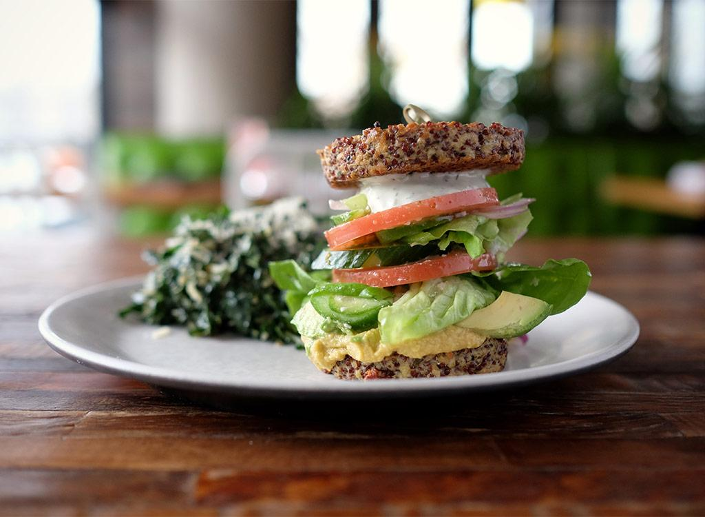"""This health-focused chain boasts high-quality, organic ingredients and seasonal dishes.  There's a new health-focused restaurant backed by Oprah Winfrey opening in a city near you, and it's called <a rel=""""nofollow"""" href=""""https://www.truefoodkitchen.com/"""">True Food Kitchen</a>. The media mogul recently announced that she will be investing her billions in the Arizona-based chain, which currently has 23 locations across the country and hopes to double that by 2021—including debuting one in New York City. The restaurant was co-founded by renowned physician Dr. Andrew Weil and restaurateur Sam Fox in 2008and prides itself in serving up high-quality, organic ingredients and seasonal produce.  True Food Kitchen's menu rotates regularly by season to ensure you're getting the best foods at their peak freshness throughout the year. From their famed inside-out quinoa burger to the spaghetti squash casserole to the chia seed pudding, every dish is prepared with nutrition in mind. However, not all of their dishes make the grade on fat, sodium, and sugar.  To help you make good food choices, we ranked the up-and-coming chain's breakfasts, appetizers, mains, and desserts from best to worst. Note that the menu items below are dishes you can find year-round, so if you want to check out their seasonal offering, visit their <a rel=""""nofollow"""" href=""""https://www.truefoodkitchen.com/menu"""">website</a> for the full list. And to stay up-to-date on the best choices from your favorite restaurants, as well as for a collection of essential nutrition tips, and supermarket shopping guides, subscribe to the new <em>Eat This, Not That!</em> magazine now! For a limited time, you can save 50 percent off the cover price—<a rel=""""nofollow"""" href=""""http://bit.ly/2FwB93A"""">click here</a>!"""