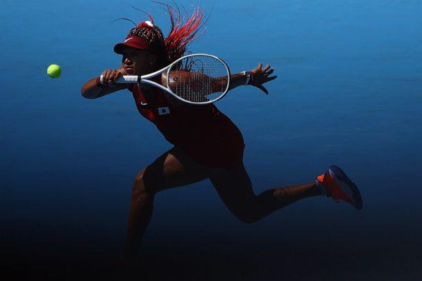 PHOTO: Naomi Osaka of Japan is seen during her first round match against Zheng Saisai of China on July 25, 2021, in Tokyo. (Edgar Su/Reuters)