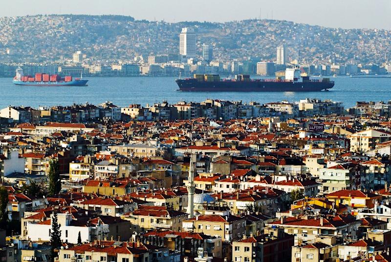 A view of the Aegean Sea from the Turkish city of Izmir (AFP Photo/Gurcan Ozturk)