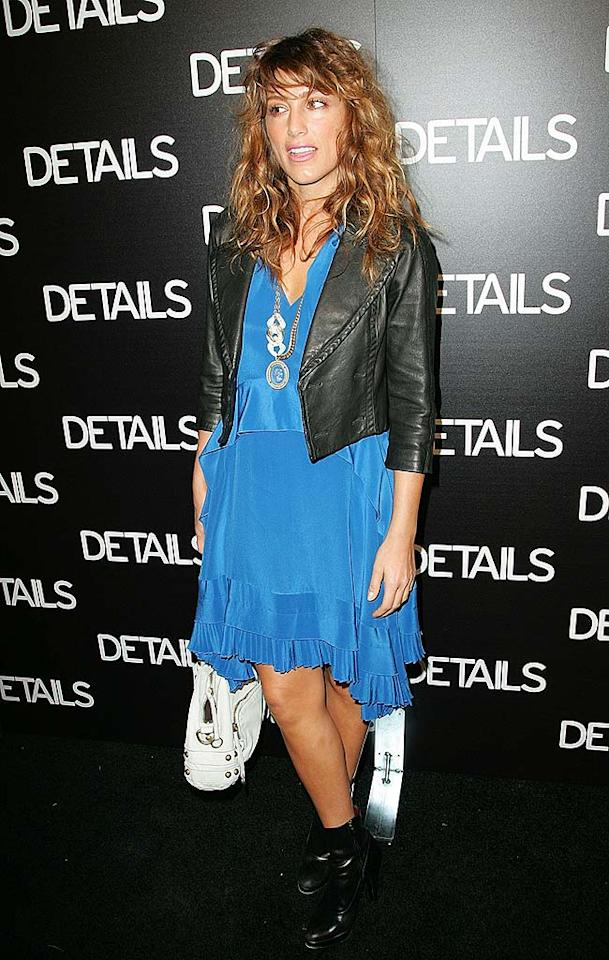 """Jennifer Esposito's loud outfit and accessories would be cute ... if it were 1986. Jason LaVeris/<a href=""""http://www.filmmagic.com/"""" target=""""new"""">FilmMagic.com</a> - March 20, 2008"""