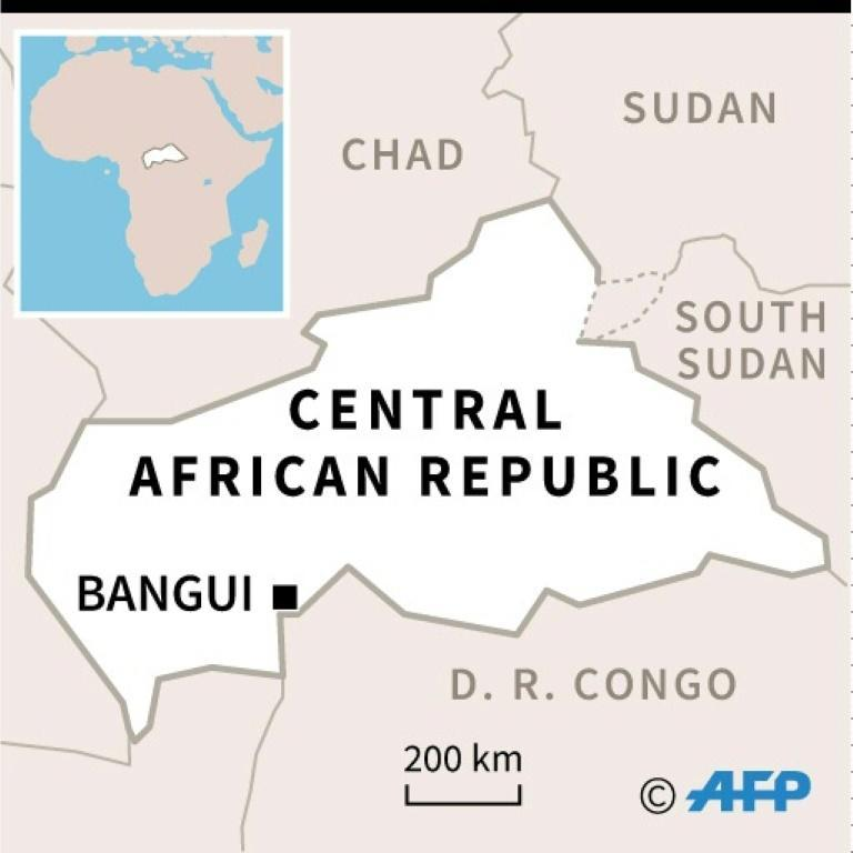 Map of Central African Republic locating Bangui